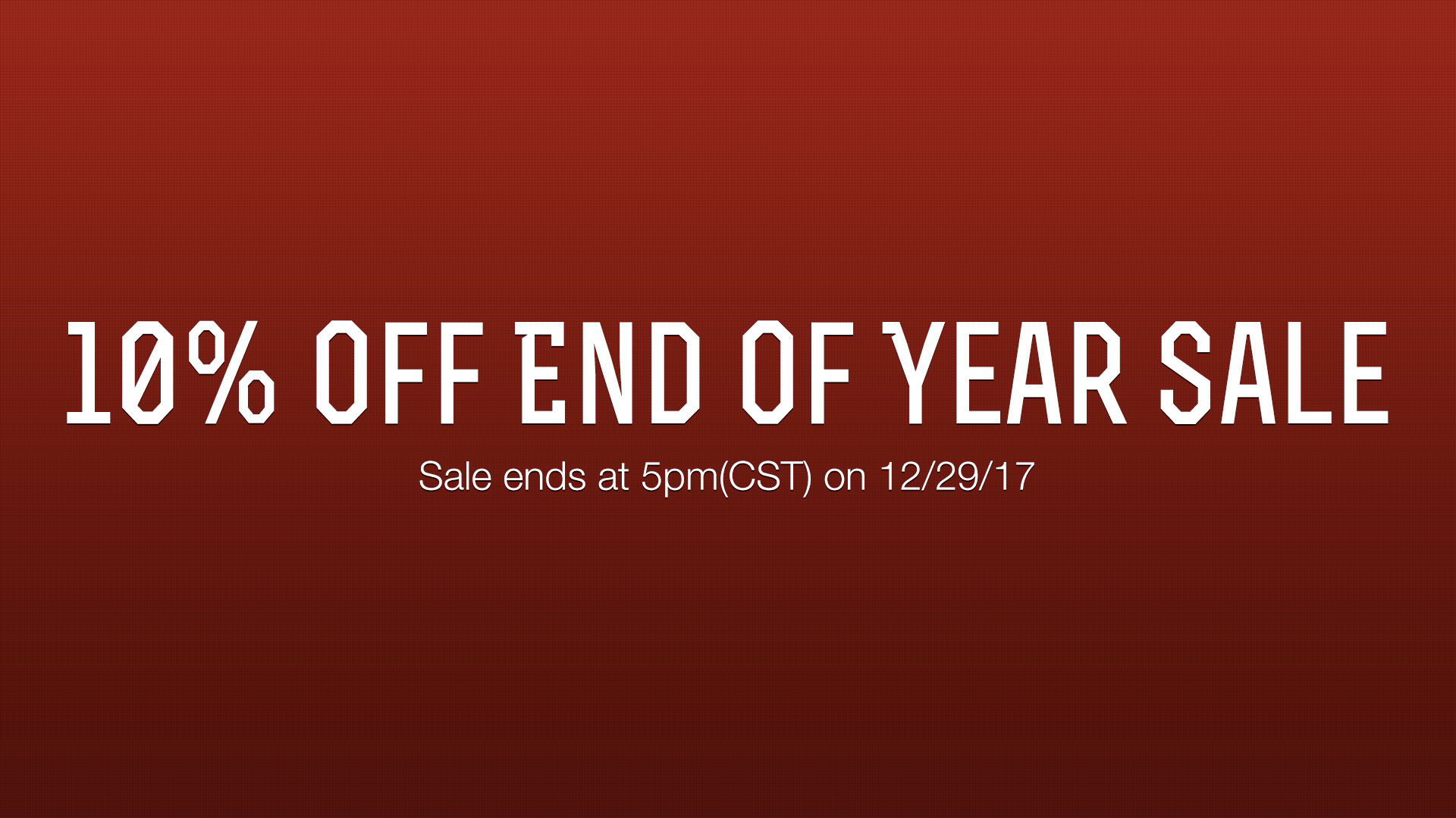 2017 End of Year Sale
