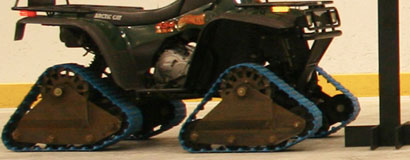 Mattracks was the first to develop a rubber track conversion system prototype for ATVs in 1996