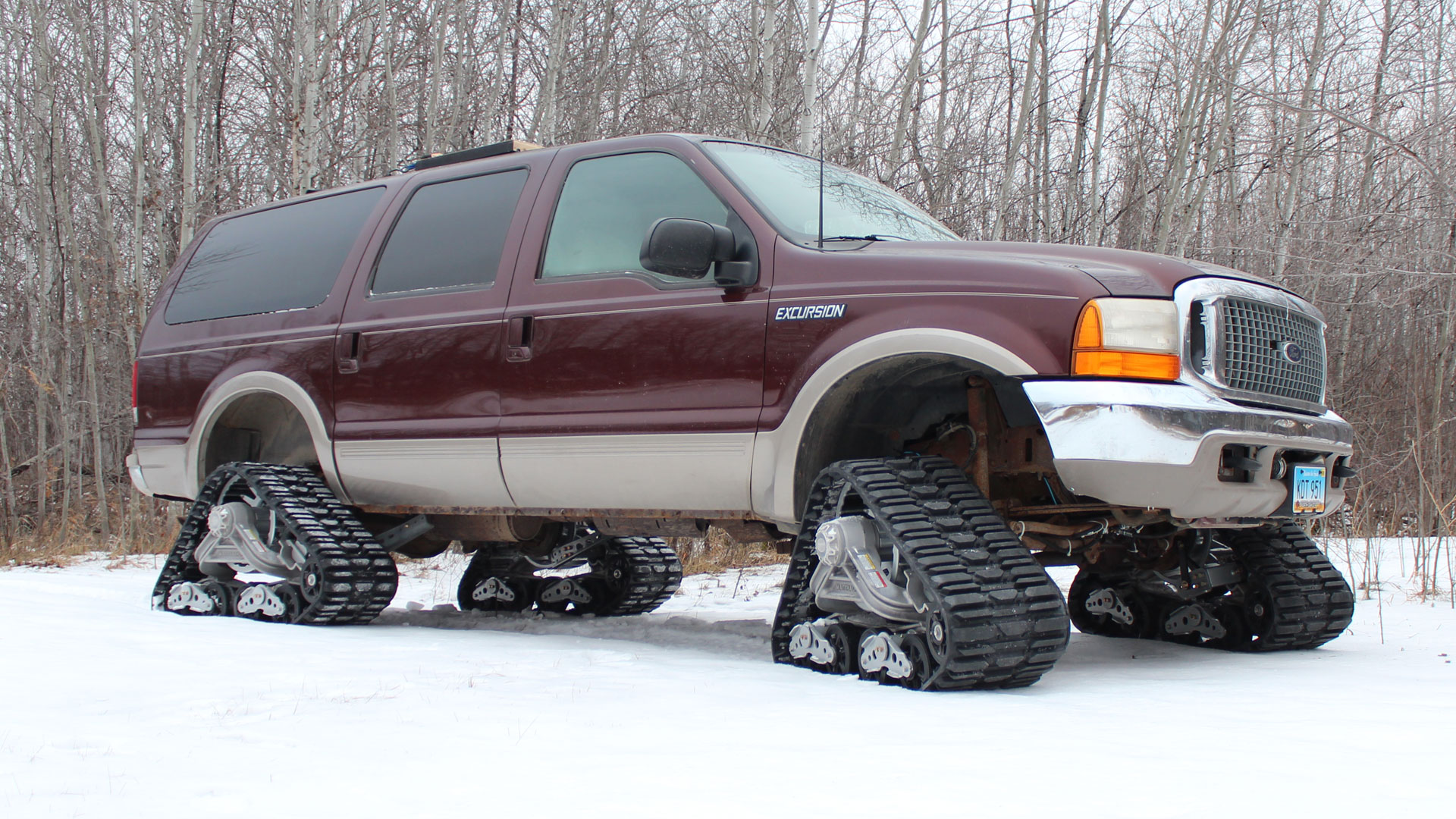 150 Tracks on a Ford Excursion