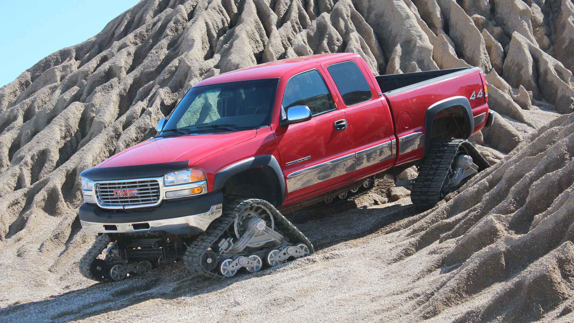 150 Tracks on a GMC Sierra 2500HD