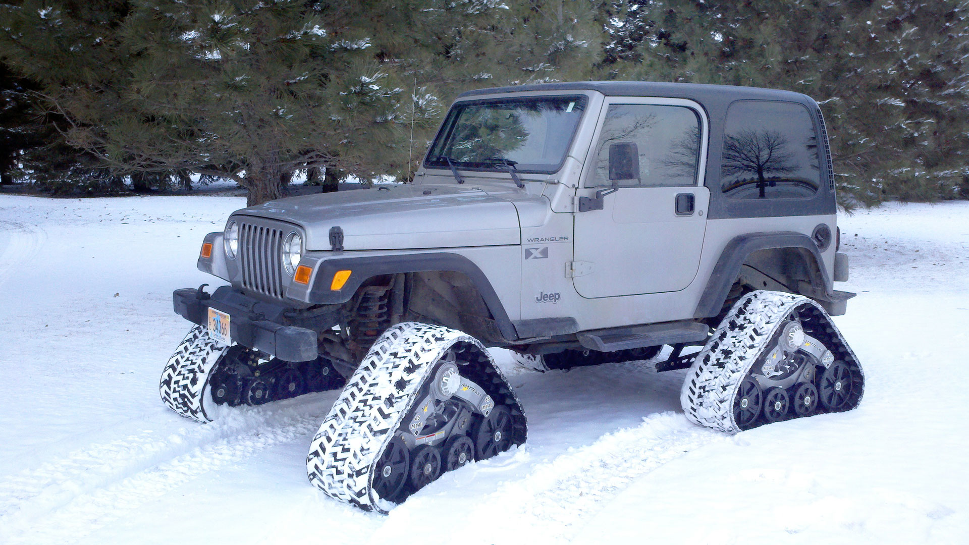 65 Series Tracks on a Jeep Wrangler