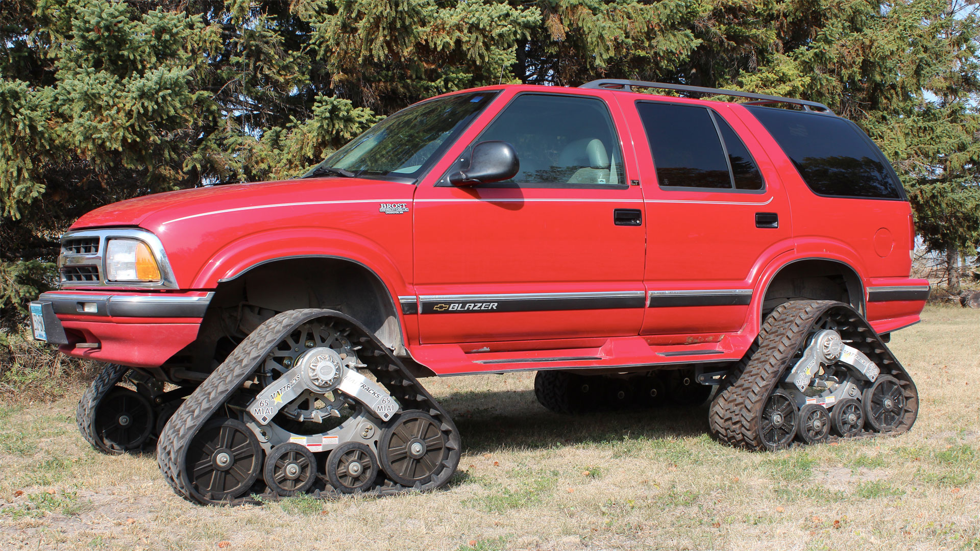 65 Series Tracks on a Chevy Blazer