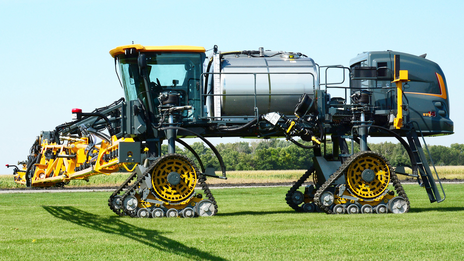 9090-AA Series Tracks on a Hagie Sprayer