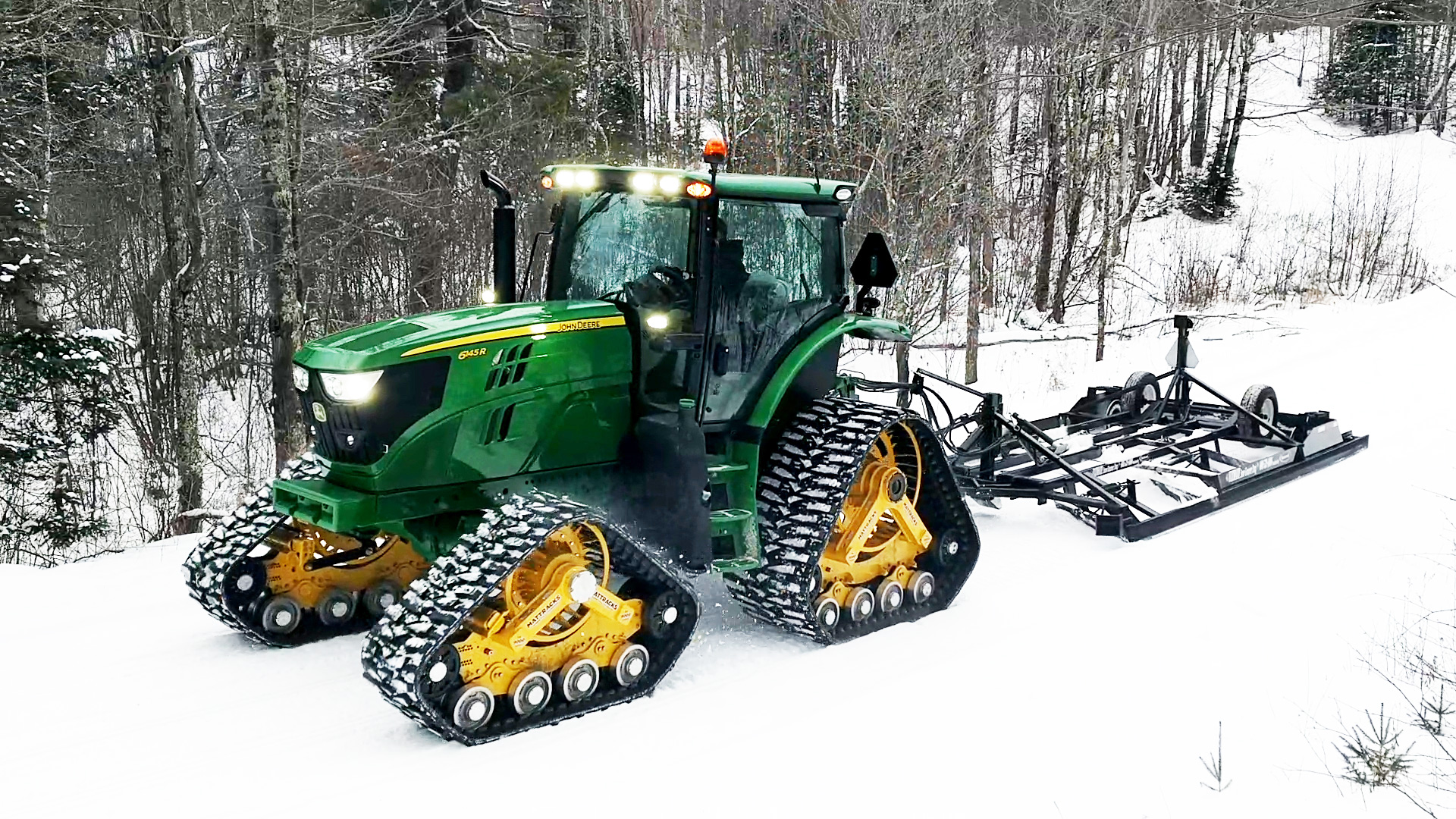 9000L-FG-2030 Series Tracks on a John Deere 6145R