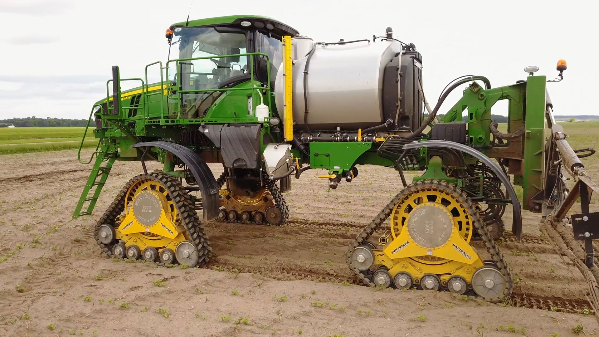 9090-AA Series Tracks on a John Deere R4038