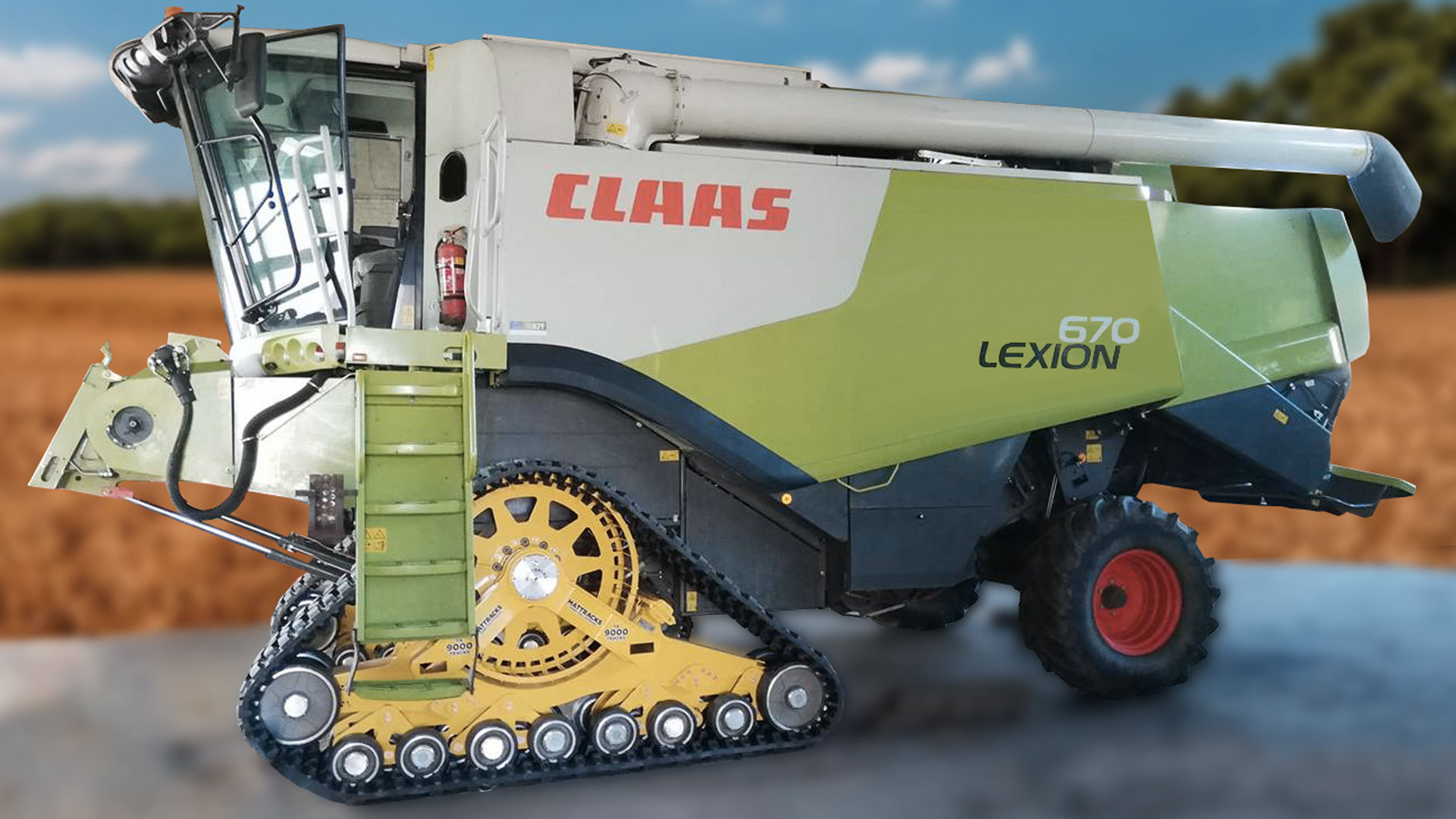 9090-J0 Series Tracks on a Claas Lexion 670